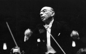 Photographic portrait of Igor Stravinsky