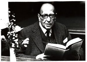 Photographic portrait of Max Horkheimer