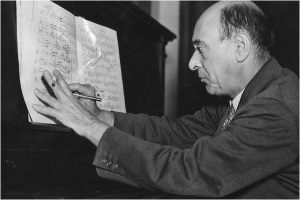 Photographic portrait of Arnold Schoenberg
