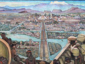 Detail from La Gran Tenochtitlan by Diego Rivera