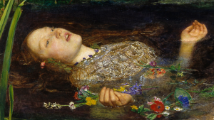 Detail from Ophelia, John Everett Millais, Ophelia,1851-1852