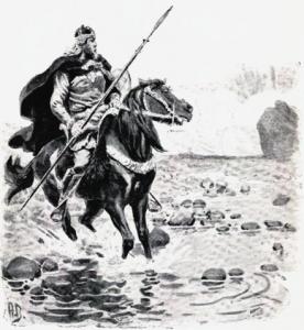 Hrafnkel illustration by Andreas Bloch